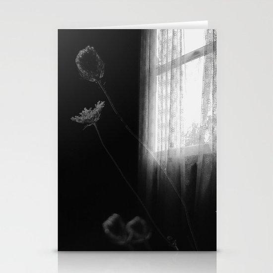 Window Flowers Stationery Card