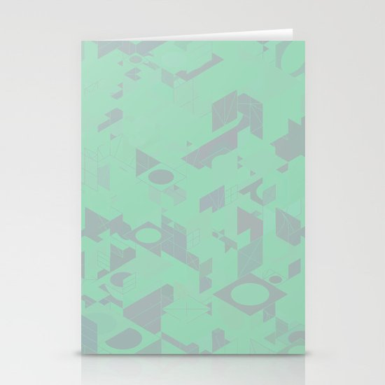 Panelscape: colours from Thorns Mint Stationery Card