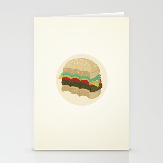 Totally a Burger Stationery Card