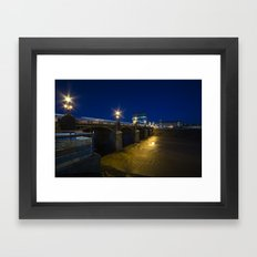 Newport Night Bridge  Framed Art Print