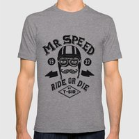 Mr. Speed Mens Fitted Tee Athletic Grey SMALL