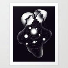 Cosmic Egg Shell Art Print