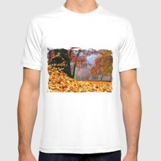 magical autumn pano SMALL White Mens Fitted Tee
