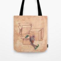 Tres Cajas De Cartón Y … Tote Bag