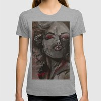 Marilyn Monroe XOXO Womens Fitted Tee Athletic Grey SMALL