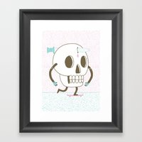As I Skate Through The V… Framed Art Print