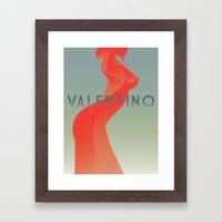 HOMAGEtoFASHION_Valentino Framed Art Print