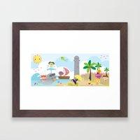 summer party Framed Art Print
