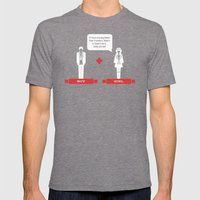 Boy Meets Girl Alt. Mens Fitted Tee Tri-Grey SMALL