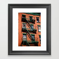 Red & Green Framed Art Print