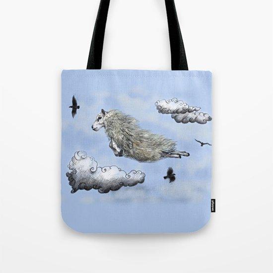 Flying sheep Tote Bag
