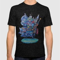 Fandom Moving Castle Mens Fitted Tee Tri-Black SMALL