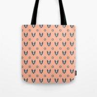 Boston Terrier & ball V. Tote Bag