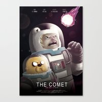 The Comet - Time for adventure in space Canvas Print