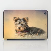 Loving the Leaves - Yorkshire Terrier Puppy iPad Case