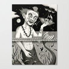 Hijacking on the High Sea Canvas Print