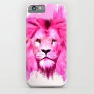 iPhone & iPod Case featuring A Pink Lion Looked At Me by Lev Man