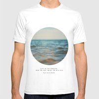 Swim The Sea Mens Fitted Tee White SMALL