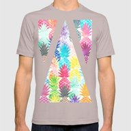 Hawaiian Pineapple Patte… Mens Fitted Tee Cinder SMALL