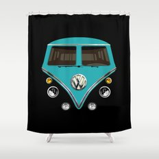 Sale for charity! Blue teal VW volkswagen mini van bus kombi camper iphone 4 4s 5 & galaxy s4 case Shower Curtain
