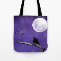 Moonlit Winter Sky Tote Bag