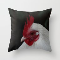 The Christmas Rooster Throw Pillow