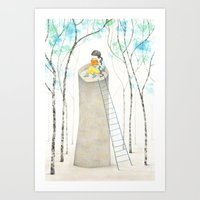 Art Print featuring A different Rapunzel by Diana Toledano
