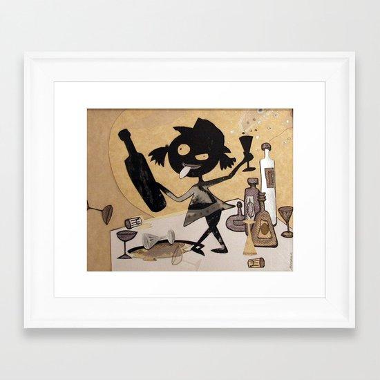 little drunk Framed Art Print