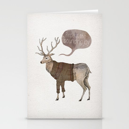 Repeat the Sounding Joy Stationery Card