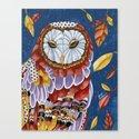 Owl Aura Canvas Print