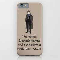iPhone & iPod Case featuring Sherlock by sally  diamonds