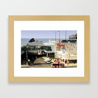 Shop By The Bay Framed Art Print
