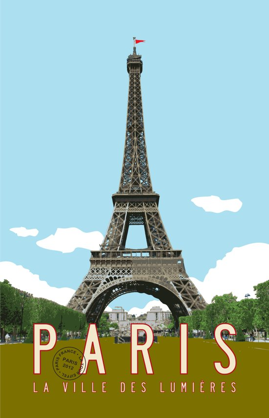 Paris 2 Travel Poster Art Print