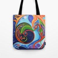 Lizard Moon Tote Bag