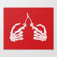 Wishbones Canvas Print