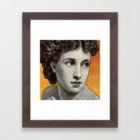 Seductress Orange Framed Art Print