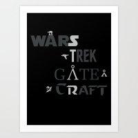 Geek All Stars Art Print