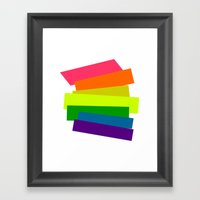 Retro Rainbow  Framed Art Print
