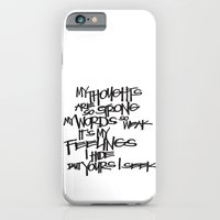 iPhone & iPod Case featuring My Thoughts Are Strong by Eliesa Johnson