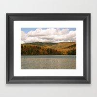 Vermont Lake Framed Art Print