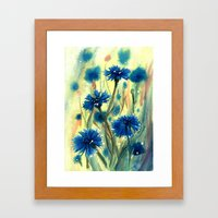 Cornflowers Framed Art Print