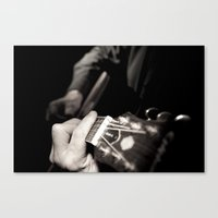 Playing the guitar Canvas Print