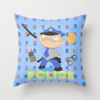 Police Throw Pillow