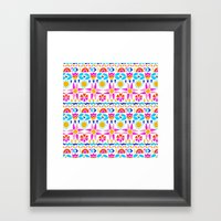 Happy Geo Framed Art Print