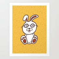Wannabe Urban Rabbit Art Print