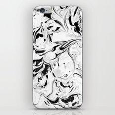 Black and White Marble iPhone & iPod Skin