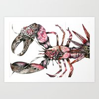 Aphrodisy  Lobster Art Print