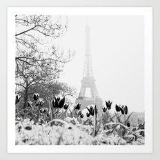 Paris Black & White Art Print