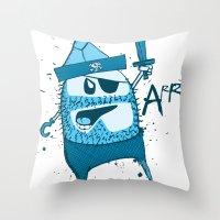 Bluebeard Throw Pillow