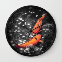 Lucky Koi Fountain Wall Clock
